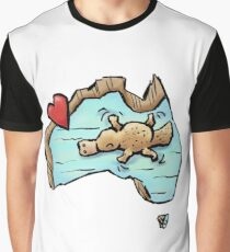 Cute Swimming Platypus in Australia Graphic T-Shirt