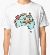 Cute Swimming Platypus in Australia Classic T-Shirt