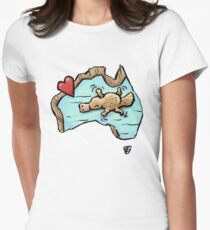 Cute Swimming Platypus in Australia Fitted T-Shirt