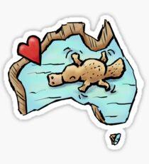 Cute Swimming Platypus in Australia Sticker