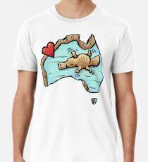Cute Swimming Platypus in Australia Premium T-Shirt