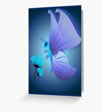 Lady Blue Butterfly Greeting Card