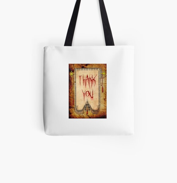 Thank You All Over Print Tote Bag
