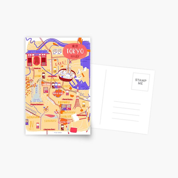 Tokyo map Postcard