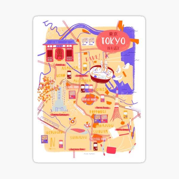 Tokyo map Sticker