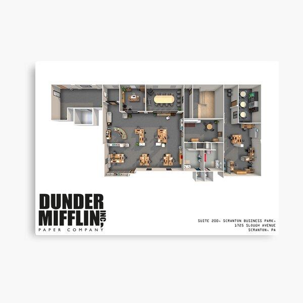 Dunder Mifflin Floor Plan Canvas Print