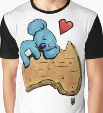 Cute Sleeping Koala on Australia Graphic T-Shirt