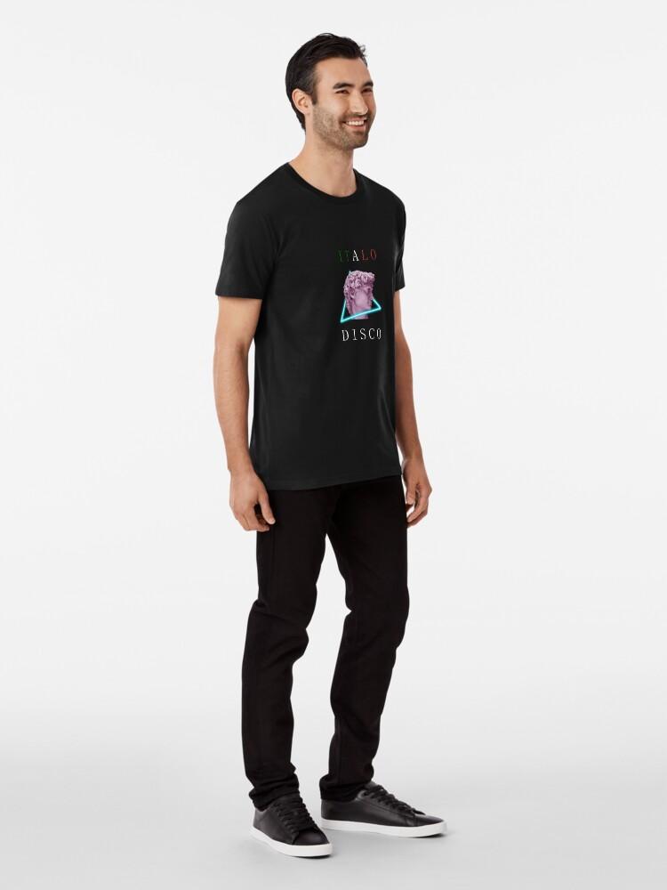 Alternate view of Italo disco (black) Premium T-Shirt