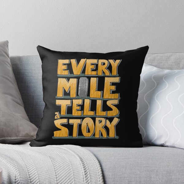 Tire in the Mile Throw Pillow