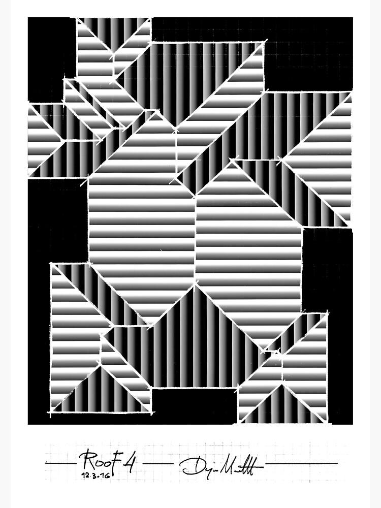 Geometric Art - Black and White Roof by pahleeloola