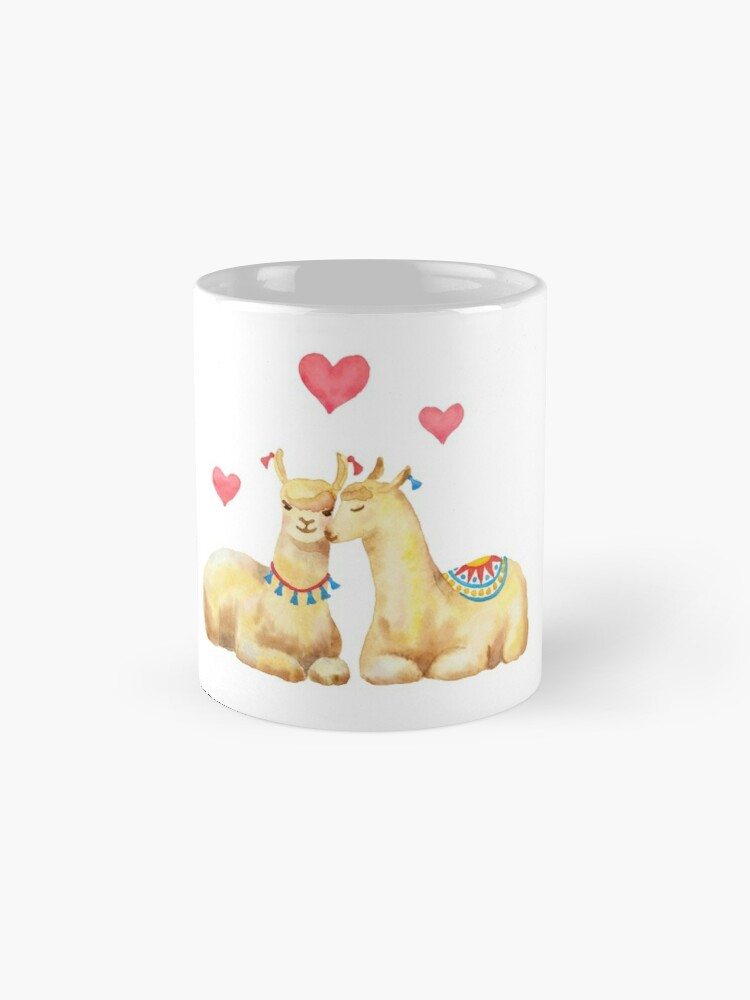 Alternate view of Llamas in llove 2 Mug