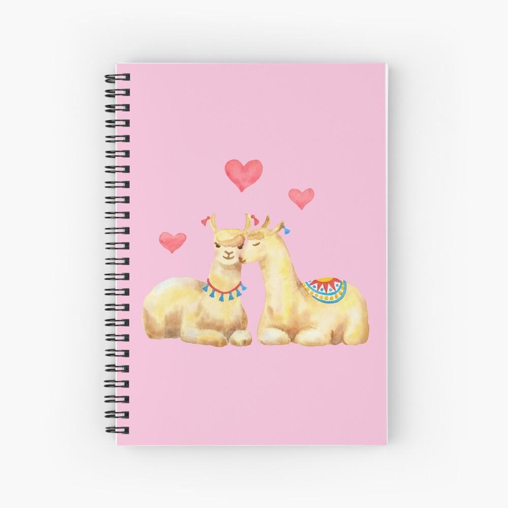 Llamas in llove 2 Spiral Notebook