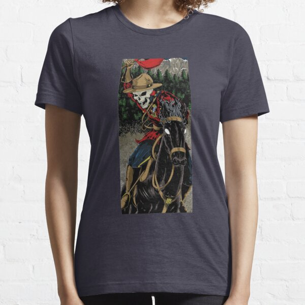 Skeleton Mountie Riding demon horse Essential T-Shirt