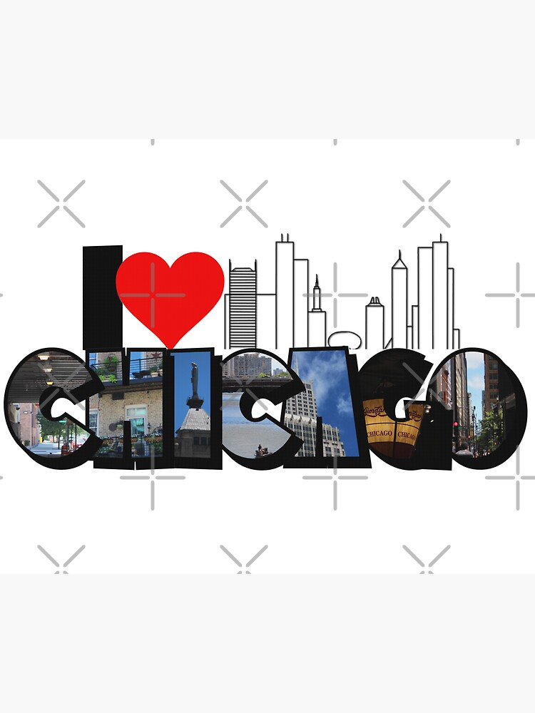 I Heart Chicago Big Letter by ButterflysAttic