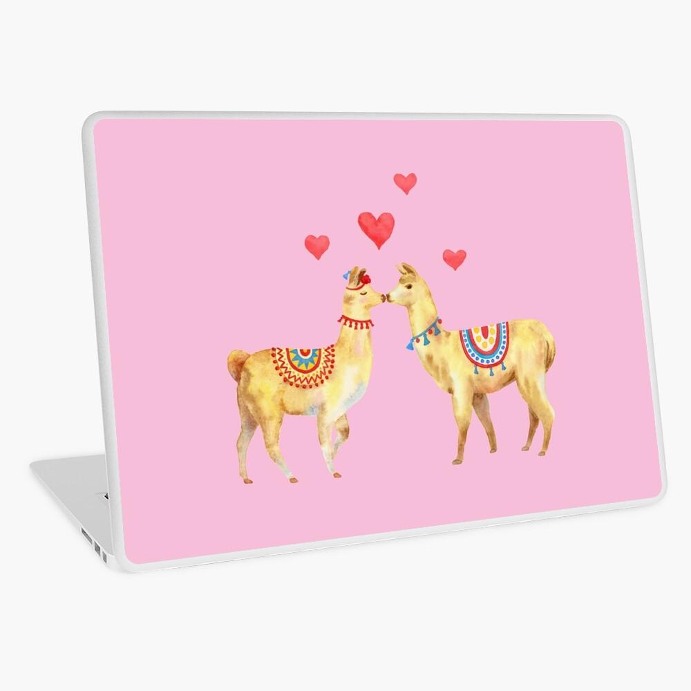 Llamas in llove 1 Laptop Skin