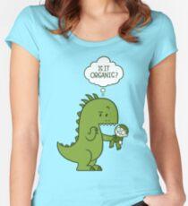 Organischer Dinosaurier Tailliertes Rundhals-Shirt