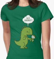 Camiseta entallada para mujer Dinosaurio orgánico
