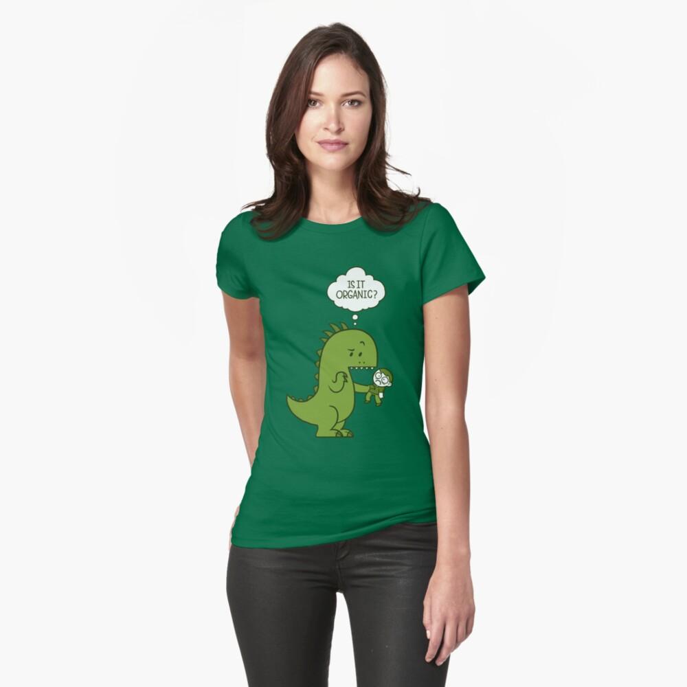 Organischer Dinosaurier Tailliertes T-Shirt