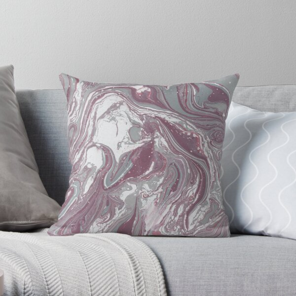 Untitled in Mauve and Grey Throw Pillow