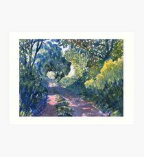 Hockney Trail Tunnel von Bäumen Kunstdruck