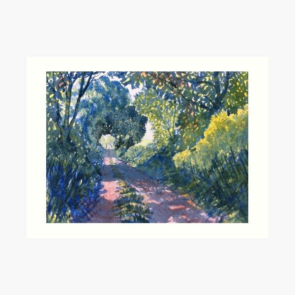 Hockney Trail Tunnel of Trees Art Print