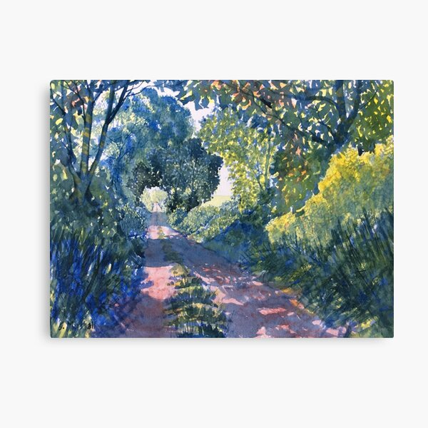 Hockney Trail Tunnel of Trees Canvas Print