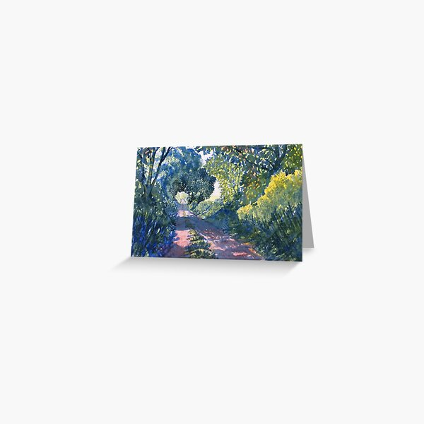Hockney Trail Tunnel of Trees Greeting Card
