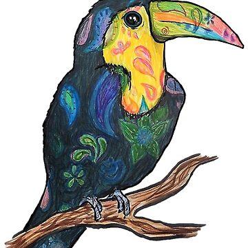 Whimsical Toucan by Creatividad