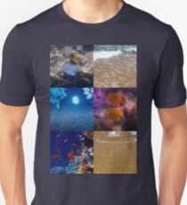Sealife And Seashore Collage Vertical 1 Unisex T-Shirt