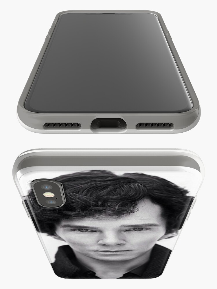 Alternative Ansicht von Benedict Cumberbatch in Sherlock iPhone-Hülle & Cover