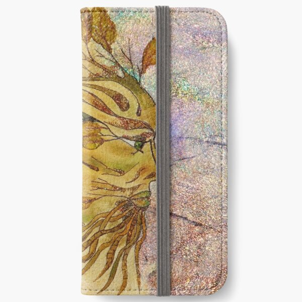 The Green Man in Autumn iPhone Wallet