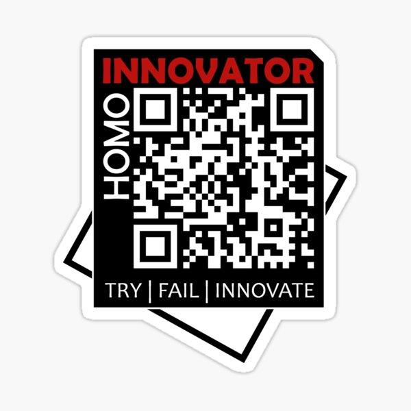 Homo Innovator   Black Collection Sticker