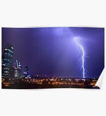 Perth Lightning Poster