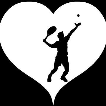 Tennis heart serve by RetroFuchs