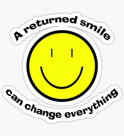 Return a smile Sticker