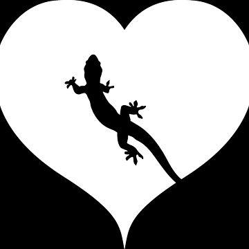 Gecko heart gift by RetroFuchs