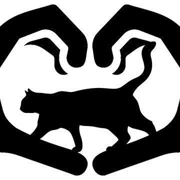 Hands cats heart by RetroFuchs