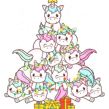 Unicorn Christmas Tree by frittata