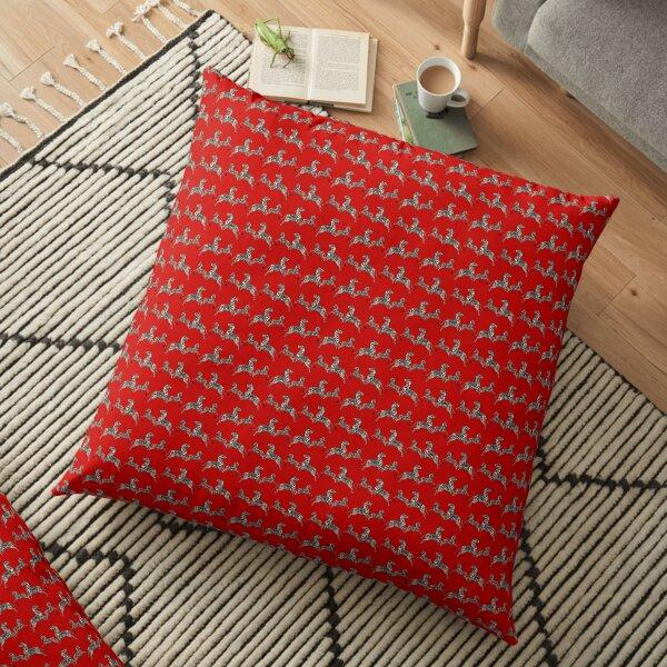 Tenenbaums Zebra Wallpaper Print Floor Pillow