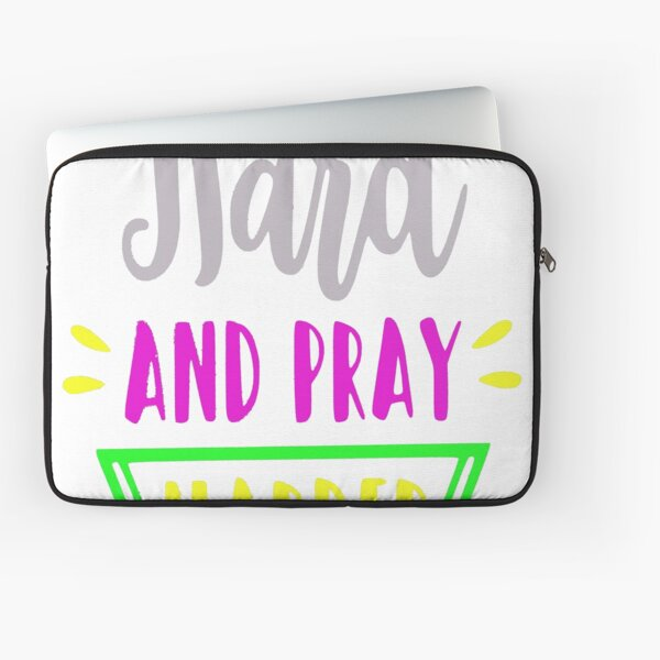 Hustle Hard and Pray Harder motivational quote Laptop Sleeve