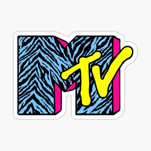 MTV 90s Logo Pegatina