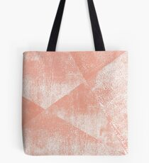 Coral and White Geometric Ink Texture  Tote Bag