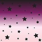 Ombre Pink and Black with Stars by lilloafdesigns