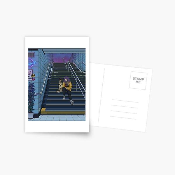 Neon Subway Postcard