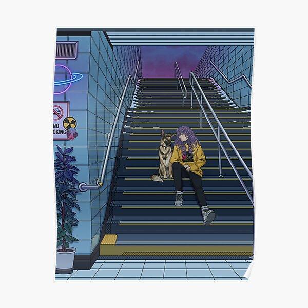Neon Subway Poster