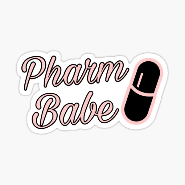 Pharm Babe Pink Sticker