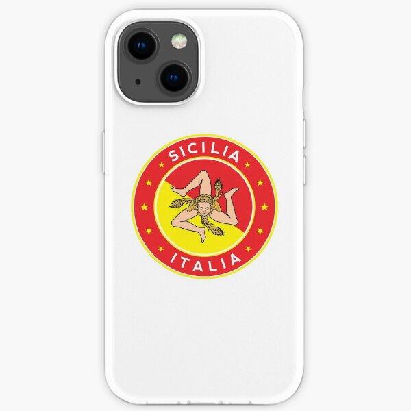 Sicilia, Italia, Sicily, Italy, with flag colors iPhone Soft Case