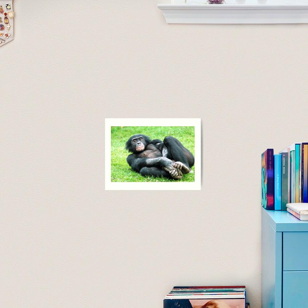 Bonobo Aerobics Art Print