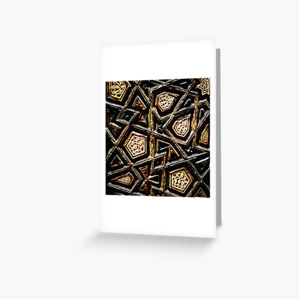CarvedArabesque Greeting Card