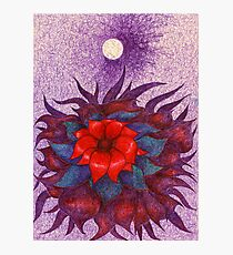 Space Flower Photographic Print